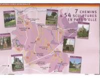 Carte des randonnées en pays d'Elle